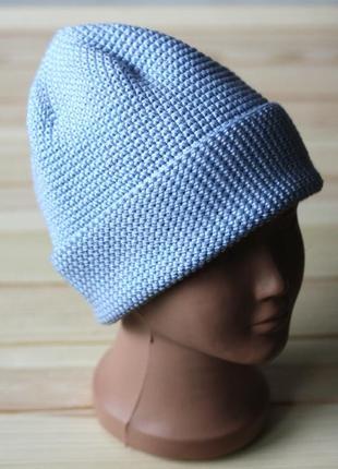 Мериносовая шапка бини детская