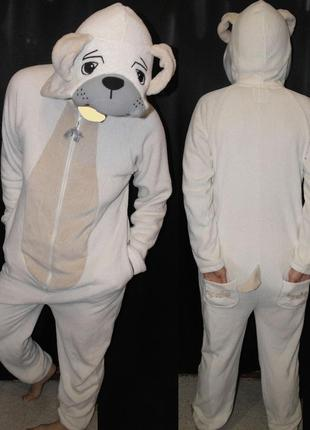 Собачка love to lounge слип кигуруми карнавал пижама костюм песик
