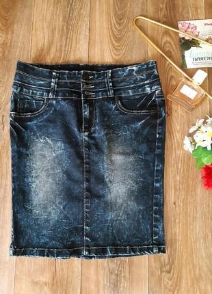 Юбка джинсовая варенка