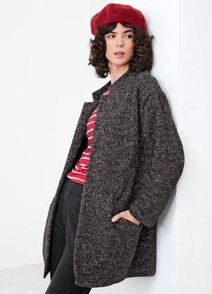 Теплое стильное плотное пальто, tchibo(германия).размер наш 54-56