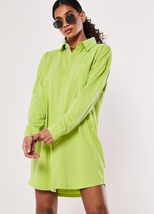 Missguided. товар из англии. платье рубашка в лаймовом цвете.есть размеры.