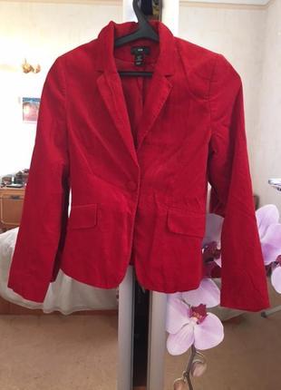 Классический вельветовый пиджак,  h&m