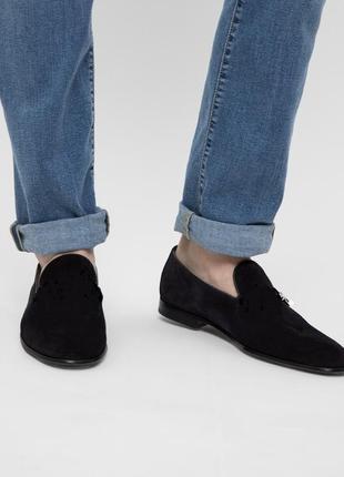 Замшевые туфли лоферы, слиперы от zign
