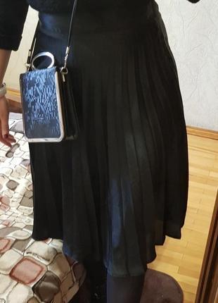 Юбка плисе юбка черная плисеровка миди