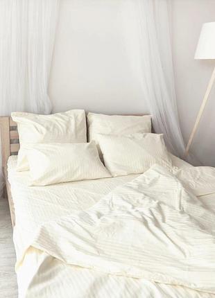 Жемчуг - натуральное постельное из страйп-сатин
