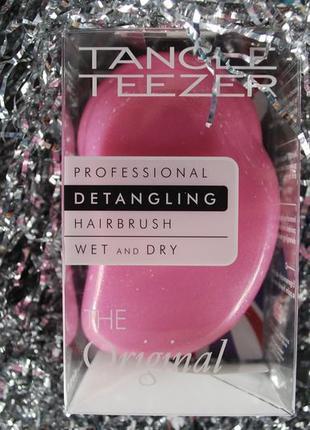 Інноваційна, професійна щітка tangle teezer the original glitter pink
