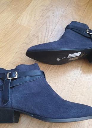 Ботинки із натуральної замші зовні і нат.шкіри
