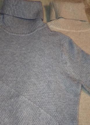 Шикарный свитер-гольф burberry теплый, серый
