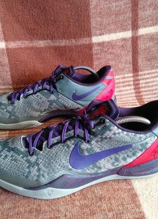 Баскетбольние кроссовки nike kobe 8 mine grey