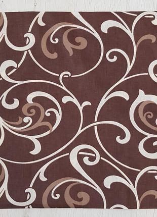 Наволочка на подушку завиток коричневый
