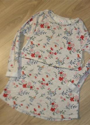 Свитшотное платье - туника на 8-9лет