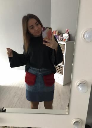 Джинсовая юбка джинсова спідниця zara
