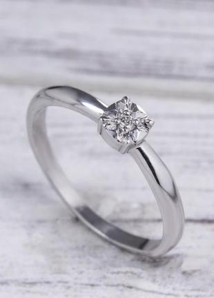Кольцо с бриллиантом 03в