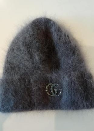 Новая ангоровая шапочка