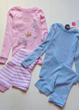 Cool club. размер 4 года. новый милейший комплект из 2-х пижамок для девочки