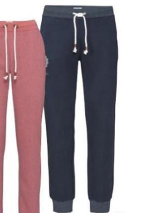 Мужские тёплые джоггеры спортивные штаны на флисе р.евро 56-58 xl livergy германия