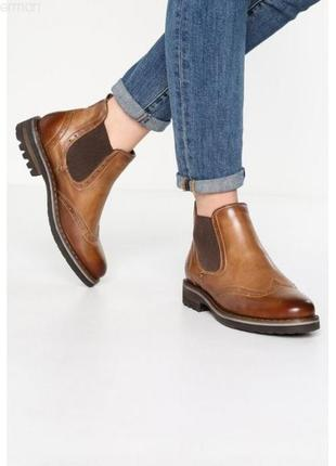 Кожаные ботинки челси pier one 100% натуральная кожа 41 размер