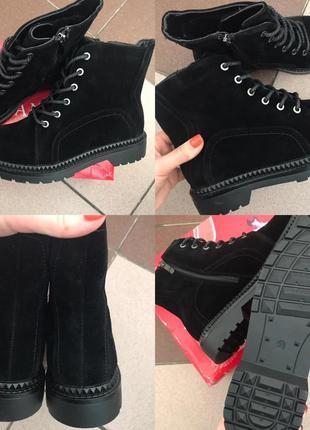 Очень стильные ботинки из эко замши