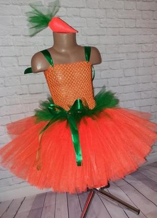 Фатиновое платье морковка