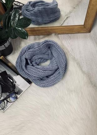 Снуд шарф небесного кольору від h&m🧡🧡🧡