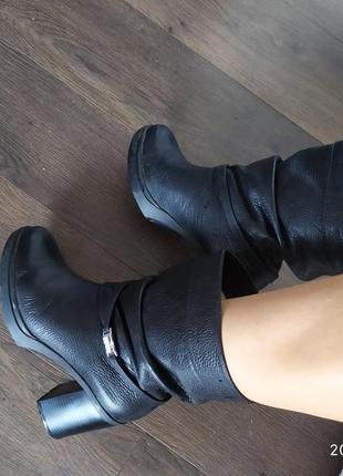 Ботинки  шкіра
