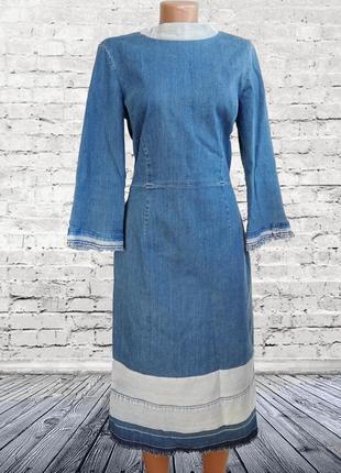 Повседневное джинсовое платье с рюшами / тренд 2019 ! marks & spencer