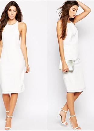 Белое платье с широкими вырезами возле рук от oh my love
