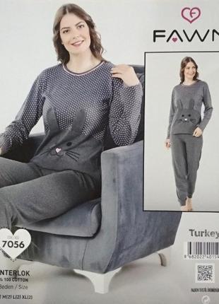 Пижама (лонгслив, брюки) fawn(s,m,l,xl)