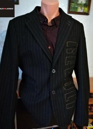 Стильный пиджак модного датского бренда jack & jones, оригинал,р.xl