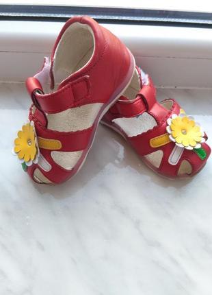 Кожаные босоножки, шкіряні босонжки,туфли