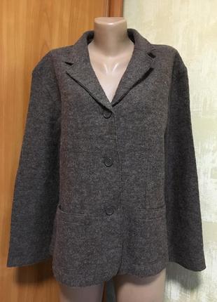 Роскошный шерстяной жакет,пиджак из валяной шерсти,капучино!