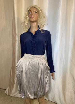 Франция pure нежный100% натуральный шелк шелковая блуза