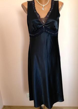Бомбезное елегантное платье в бельевом стиле. /l- xl// brend monnari