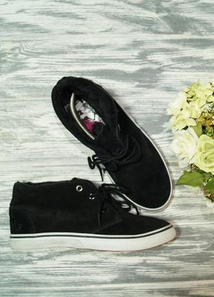 🌿бесплатная доставка🌿37🌿djeannie. замша. стильные ботинки, высокие кеды на утеплителе