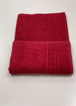 Полотенце банное бордовое хлопок