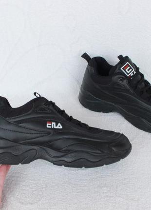 Черные кроссовки в стиле фила, fila 37 размера