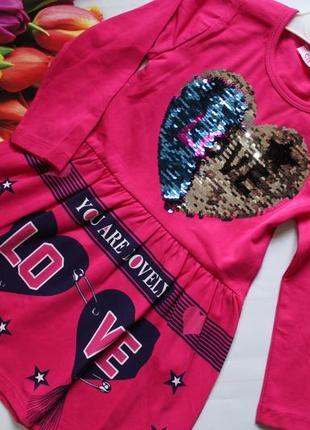 Платье сердце пайетка / сукня дівчинка