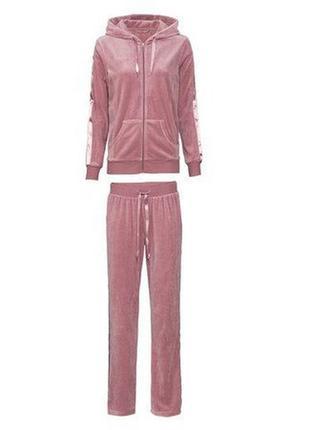 Плюшевый спортивный костюм р.евро 36-38 s esmara германия для дома тёплый велюровый