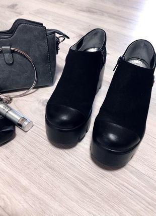 Ботинки демисезон размер 36  замша
