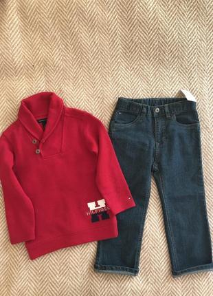 Комплект светр та джинси tommy hilfiger