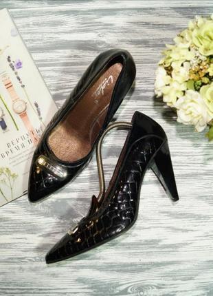 🌿бесплатная доставка🌿lider. кожа. красивые базовые туфли на устойчивом каблуке