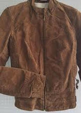 Натуральная замшевая кожаная куртка лайнер пилот zara basic