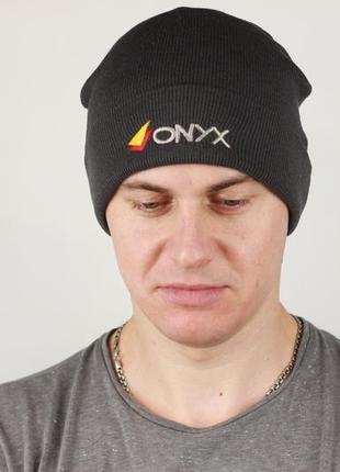 Фирменная акриловая шапка с ушками