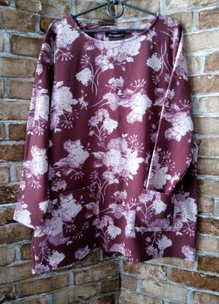 Блуза туника из фактурного трикотажа