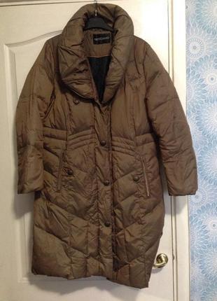 Пальто осень-начало зимы натуральный пух