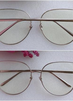 Новые имиджевые очки бабочки, серебристые