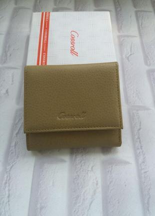 Кожаный женский маленький кошелек из натуральной кожи шкіряний гаманець