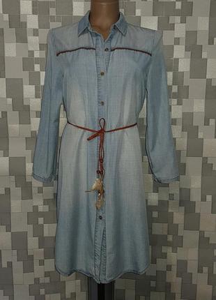 Женское джинсовое платье рубашка