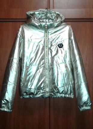 Золотистая демисезонная куртка catherine