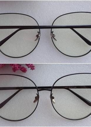 Новые модные очки для имиджа бабочки, черные